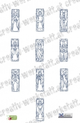 Bluework Angel Bookmarks