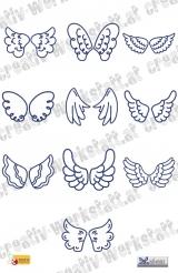 Bluework Angel wings