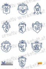 Bluework Oriental shields