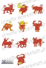 Bulls on fire