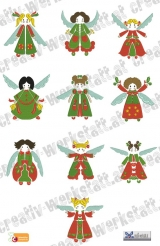 Christmas folk angels