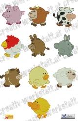 Chubby farm animals