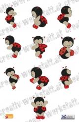 Modular Heart Ladybugs