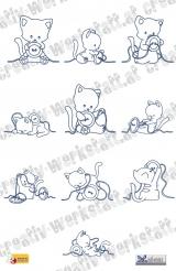 Modular sewing kitty (Bluework)