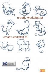 Outline kitties