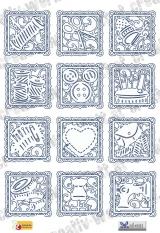 Sewing stencil blocks