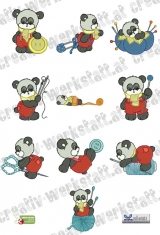 Sewing time panda