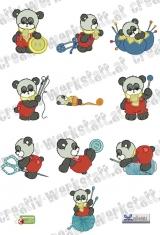 Sewing time panda