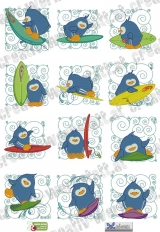 Surfing Penguin Blocks