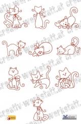 Swirly kitties