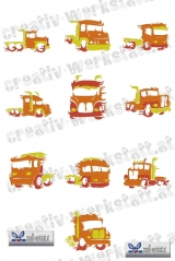 Trucks on fire