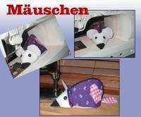 Mäuschen - Kleine Tasche mit Reißverschluss