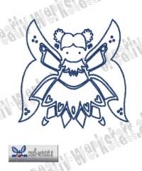 Bluework Folk Art Angel 3