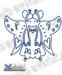 Bluework Folk Art Angel 2