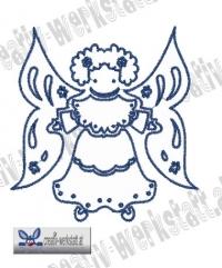 Bluework Folk Art Angel 4