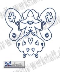 Bluework Folk Art Angel 5