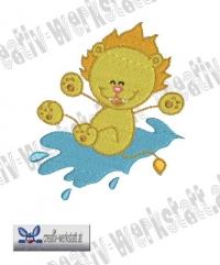 Swirly lion 3