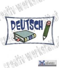 Applikation Schild Deutsch