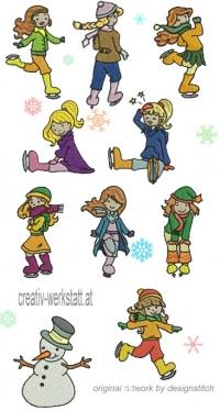 Iceskater girls HUS