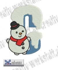 Little christmas letter C