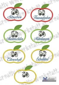 Aufnäher - Etiketten - Namensschilder für Hefte und Ordner Set 02