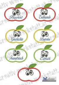 Aufnäher - Etiketten - Namensschilder für Hefte und Ordner Set 03