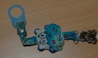 Clip für Schnullerketten aus Metall Bärenform