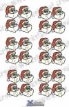 Adventskalender Zahlen Santa