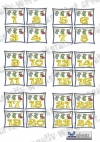 Adventskalender Zahlen Socken 01