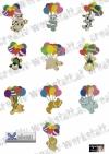 Balloon parachute - Tiere mit Ballons
