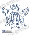 Bluework Folk Art Angel 2