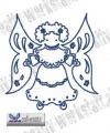 Bluework Folk Art Angel 4