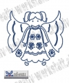 Bluework Folk Art Angel