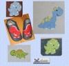 Applikationen Dinos 10 x 10 cm