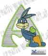 Rabbit - Hase Alphabet A