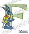 Rabbit - Hase Alphabet F