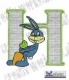 Rabbit - Hase Alphabet H