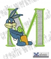 Rabbit - Hase Alphabet M