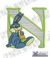Rabbit - Hase Alphabet N