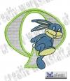 Rabbit - Hase Alphabet Q