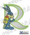 Rabbit - Hase Alphabet R