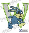 Rabbit - Hase Alphabet W