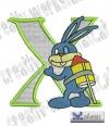 Rabbit - Hase Alphabet X