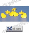 Kam Snaps 10er Set Herzen gelb - yellow hearts