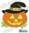 Kürbis mit Hut - Halloween pumpkin