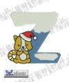 Little christmas letter Z