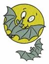 Mond mit Fledermäusen